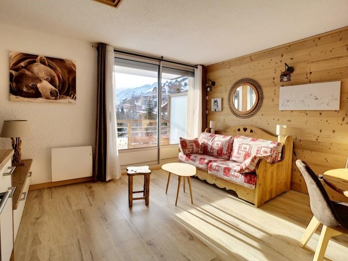 Location de vacances - Appartement à Les Deux Alpes - Canapé convertible en lit double