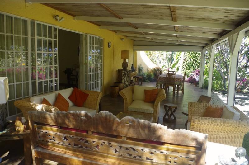 Location de vacances - Villa à Pereybere - Coin salon sour la varangue