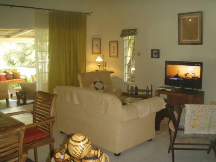Location de vacances - Villa à Pereybere - Salon, télé grand écran, table à jeux