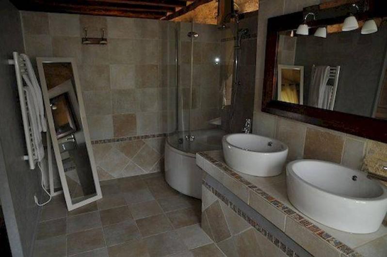 Location de vacances - Chambre d'hôtes à Valojoulx - chambre MELILOTS, la salle de bain