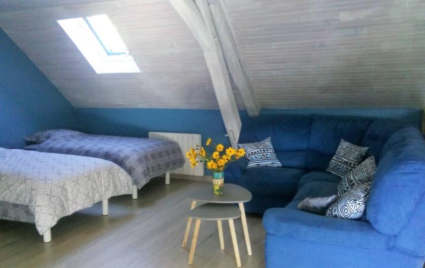 Location de vacances - Gîte à Saint-Romain-sur-Cher - coin de détente de la chambre blue