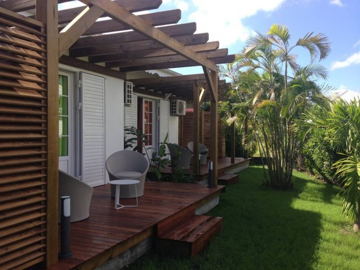 Location de vacances - Hôtel - Auberge à Saint-François - terrasse des chambres d'hôtes