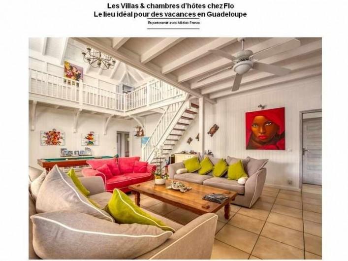 Location de vacances - Hôtel - Auberge à Saint-François - Salon de la villa de principale