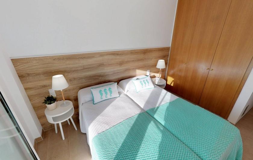 Location de vacances - Appartement à Sant Antoni de Calonge - chambre à coucher deux lits