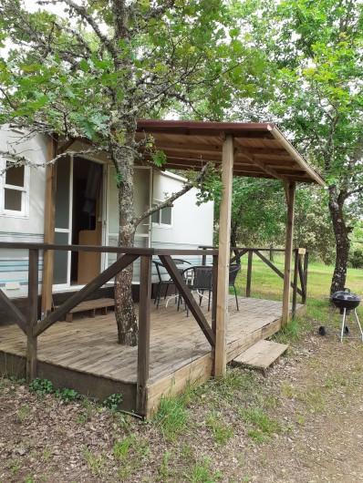 Location de vacances - Bungalow - Mobilhome à Le Buisson-de-Cadouin - Une construite autour d'un chêne