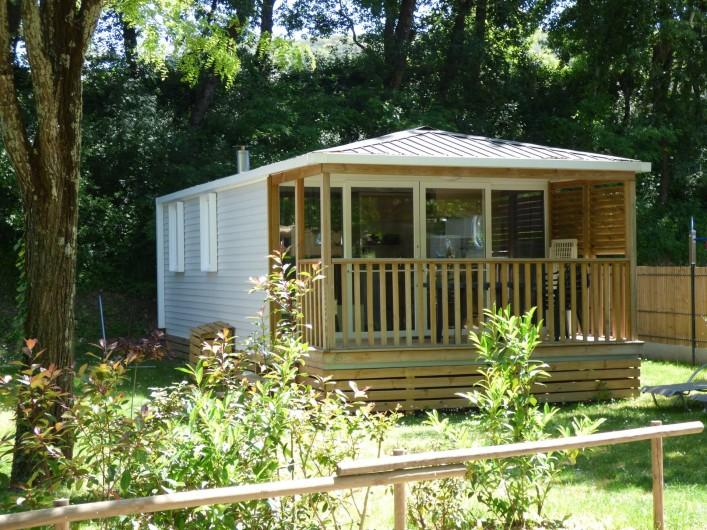 Location de vacances - Camping à Salavas - Mobil home Premium  2 chambres climatisé