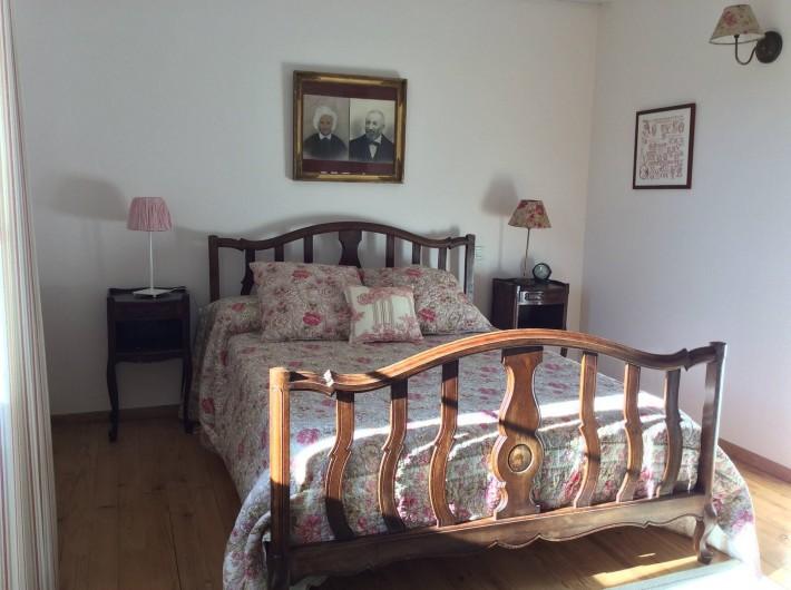 Location de vacances - Gîte à Cournanel - Chambre 1 1er étage avec douche attenante, lit 140 Gîte Alphonse