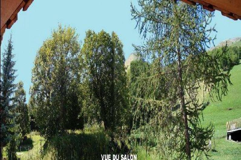 Location de vacances - Chalet à Valloire - vue du salon été