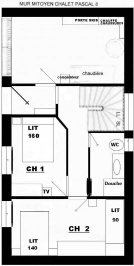 Location de vacances - Chalet à Valloire - plan R D C