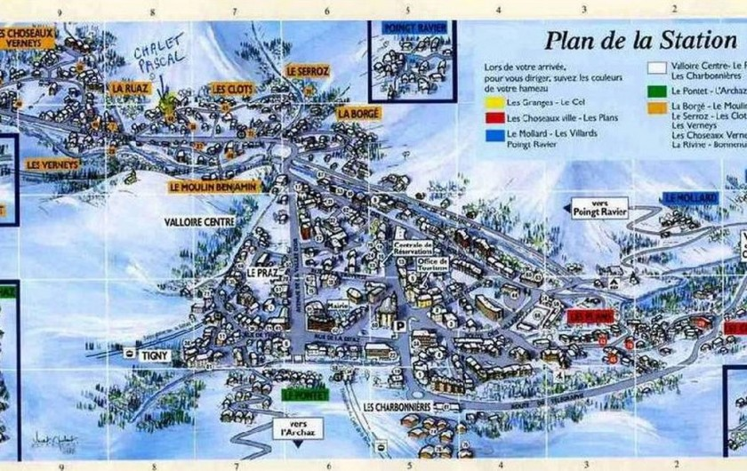 Location de vacances - Chalet à Valloire - plan de valloire