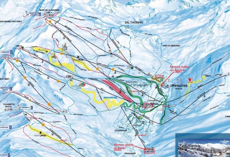 Location de vacances - Chalet à Les Menuires - plan des pistes