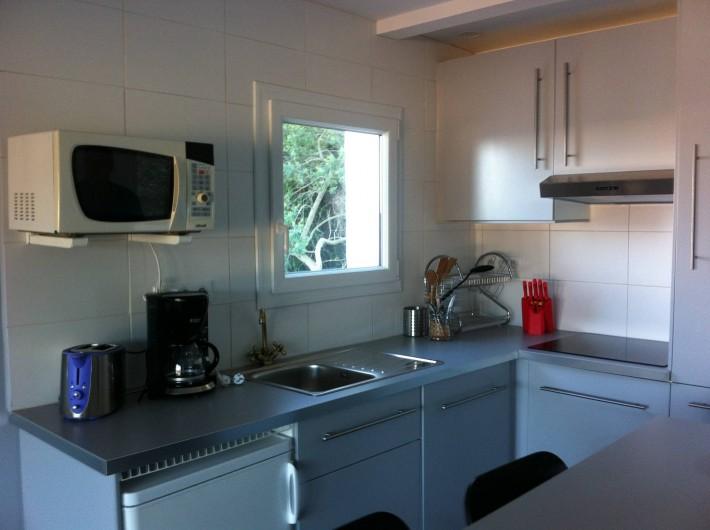 Location de vacances - Appartement à Tossa de Mar - CUISINE, VUE MONTAGNE