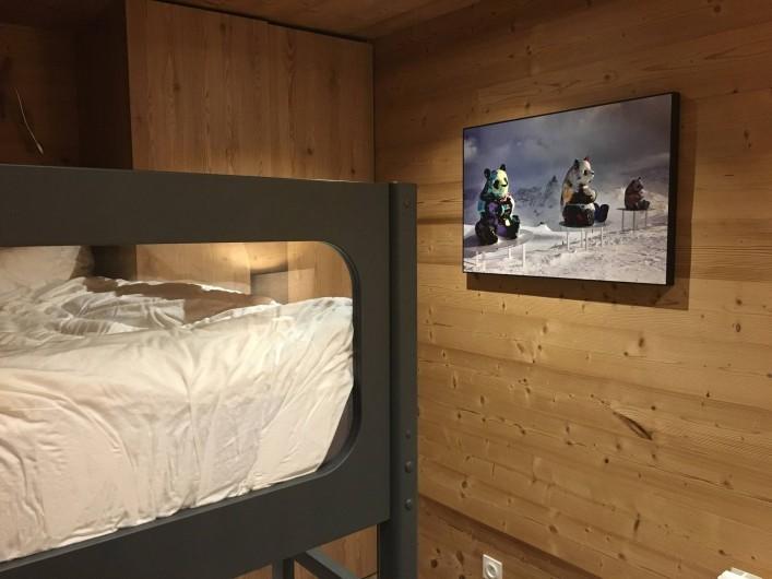 Location de vacances - Chalet à Les Avanchers-Valmorel - chambre 2 2 lits superposés