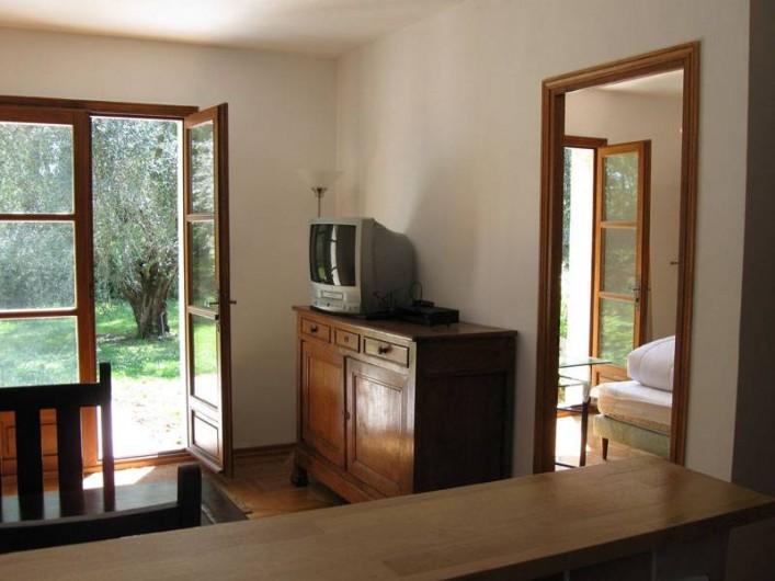 Location de vacances - Appartement à Gattières - Séjour