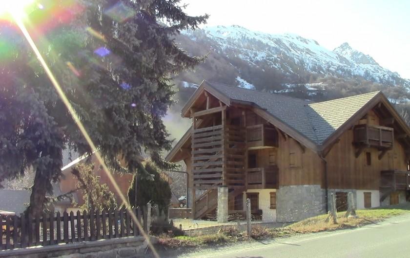 Location de vacances - Appartement à Valloire - Chalet Marie C02, rdc, côté opposé à la route