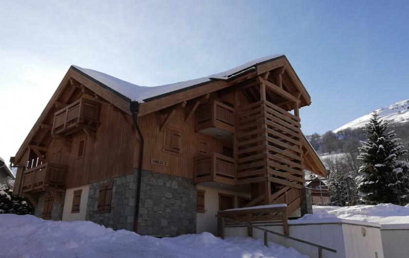 Location de vacances - Appartement à Valloire - Chalet Marie C02, en hiver