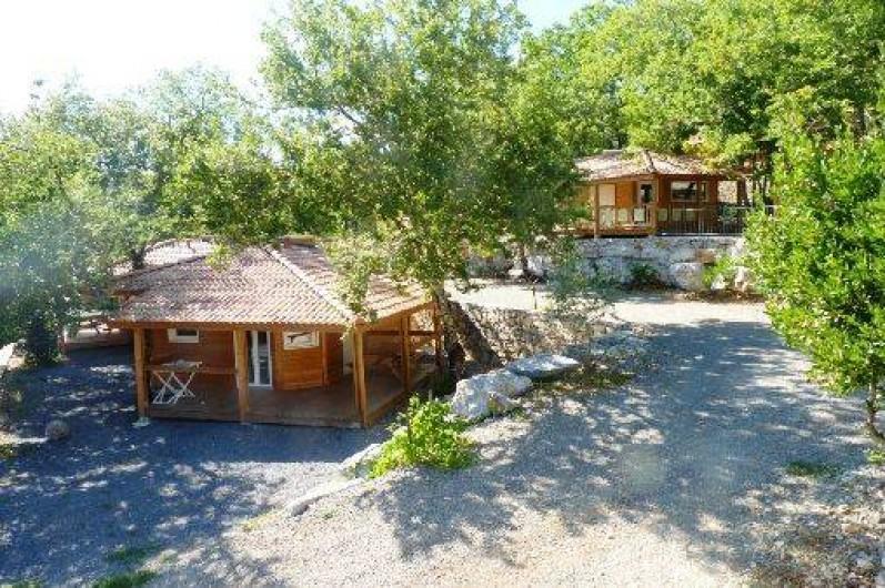 Location de vacances - Chalet à Saint-Alban-Auriolles -  chalet Sud Ardèche Rev'o Thijol