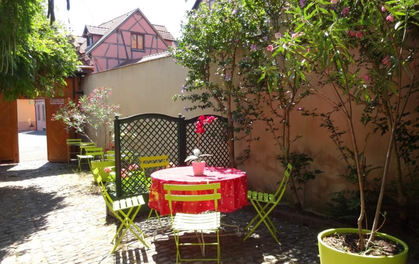 Location de vacances - Gîte à Ribeauville - Vous êtes arrivés au Gîte !