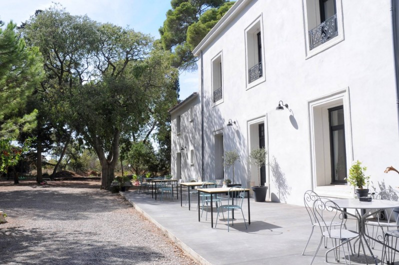 Location de vacances - Chambre d'hôtes à Frontignan - Terrasse maison d'hôtes