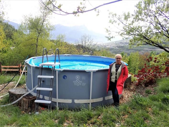 Location de vacances - Villa à Embrun - Petite piscine d'été (diamètre 4m, hauteur d'eau 1m): enfants, farniente..