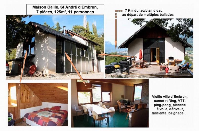 Location de vacances - Villa à Embrun - Notre grande maison vous accueille avec 7 pièces dont 5 chambres indépendantes