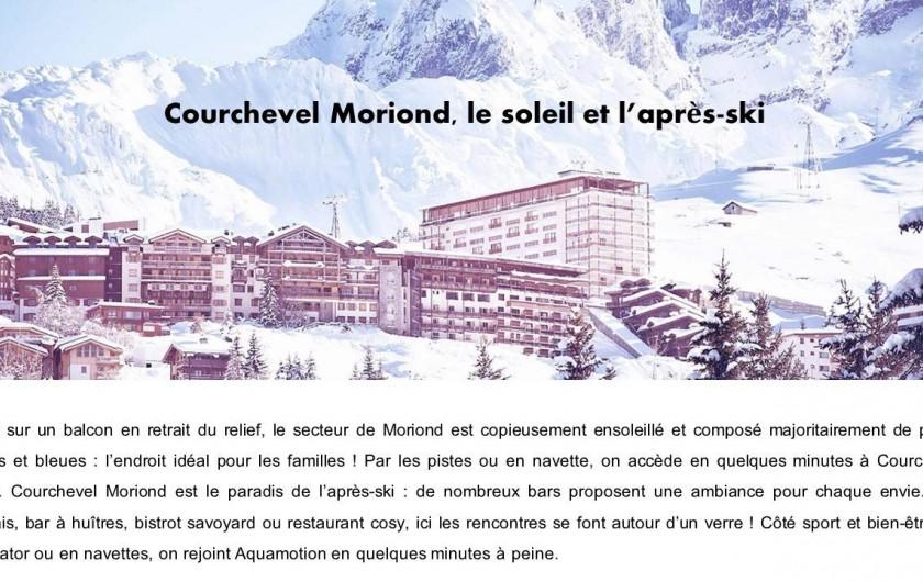 Location de vacances - Appartement à Courchevel 1650 (Moriond) - Courchevel Moriond