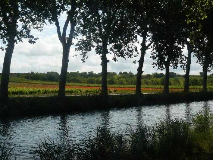 Location de vacances - Chambre d'hôtes à Villeneuve-lès-Béziers - Promenades le long du Canal du Midi