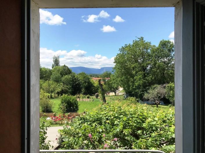 Location de vacances - Appartement à Chanaz - Vue de la fenêtre