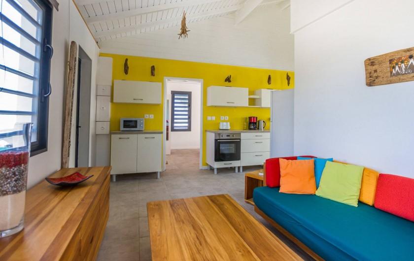 Location de vacances - Villa à Sainte-Anne - Iguane House Villas & Micro Spa Villa Passion cuisine salon