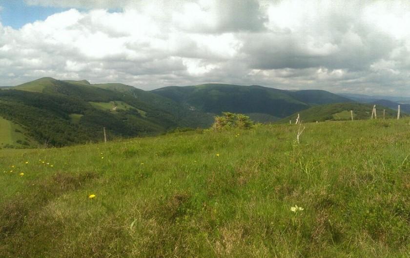 Location de vacances - Chalet à La Bresse - Vue sur les crêtes