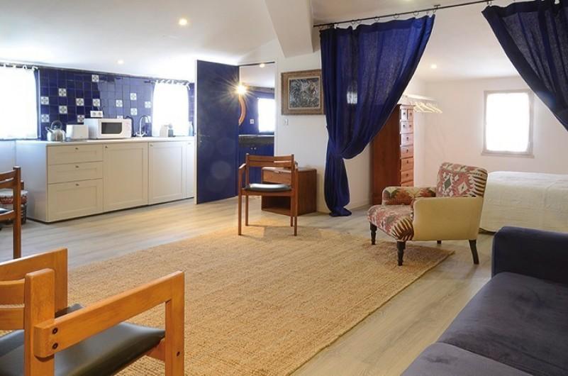 Location de vacances - Studio à L'Isle-sur-la-Sorgue - Klein : séjour avec cuisine américaine