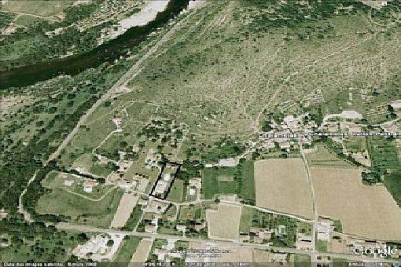 Location de vacances - Villa à Vallon-Pont-d'Arc - vue aérienne N 579 sur l'endroit location