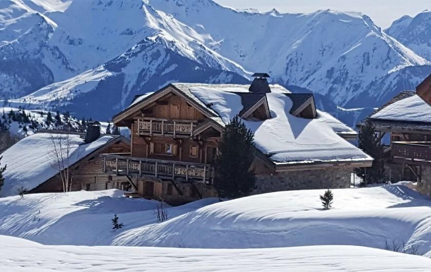 Location de vacances - Chalet à L'Alpe d'Huez - Le chalet côté Est