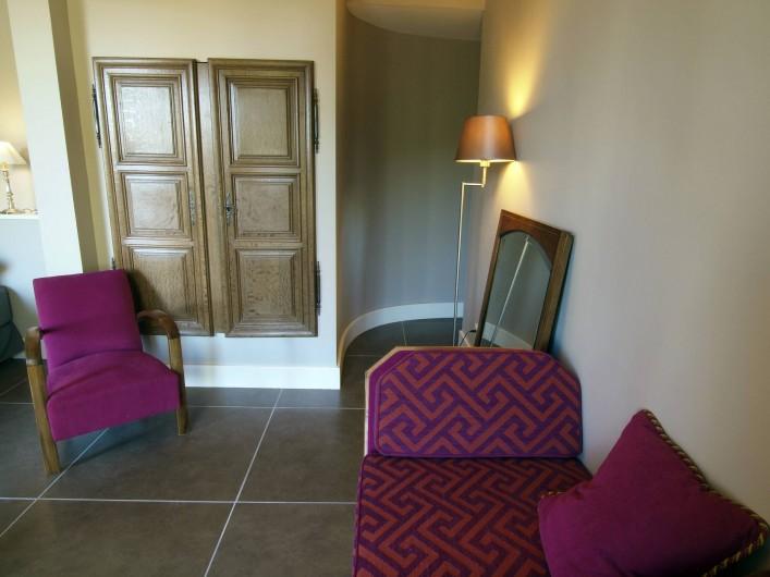 Location de vacances - Appartement à Sète - Espace salon de la chambre Saint Clair