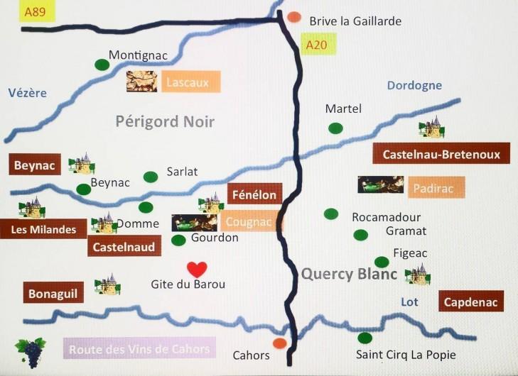 Location de vacances - Gîte à Dégagnac - Vue générale des activités proches du Gîte.