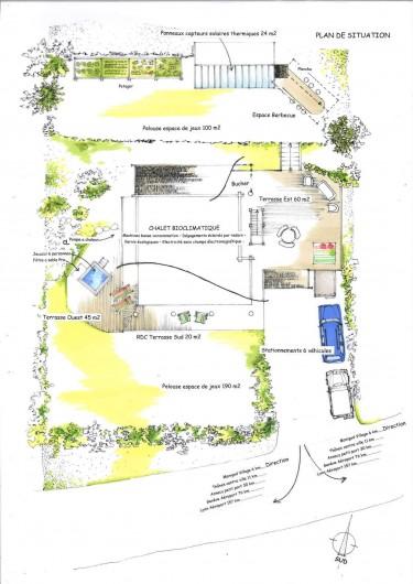 Location de vacances - Chalet à Manigod - Plan d'ensemble du chalet Kookaboora.