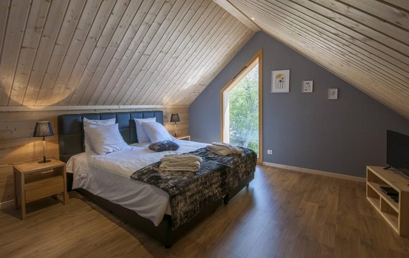 Location de vacances - Chalet à Muhlbach-sur-Munster - Chambre 3 duplex, chambre à l'étage