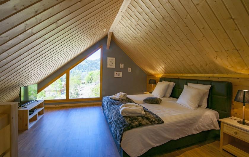 Location de vacances - Chalet à Muhlbach-sur-Munster - Chambre 4 duplex, chambre à l'étage