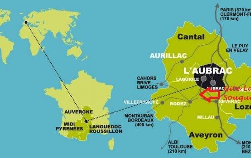 Location de vacances - Gîte à Lassouts - Situation parfaite pour visiter la Région