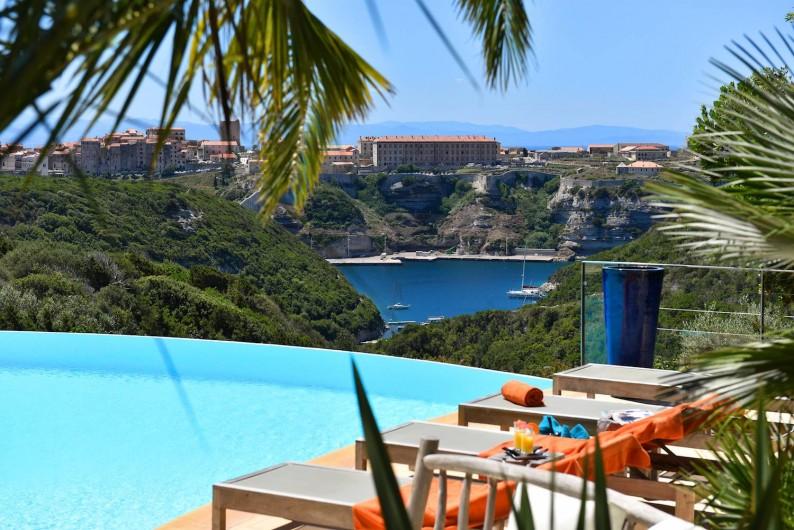 Location de vacances - Villa à Bonifacio - Vue de la piscine chauffée