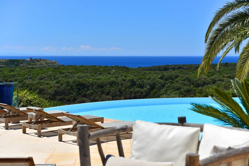 Location de vacances - Villa à Bonifacio - Vue mer