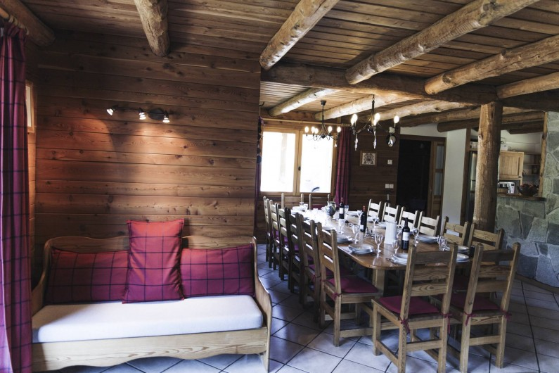 Location de vacances - Chalet à Saint-Chaffrey - La salle à manger