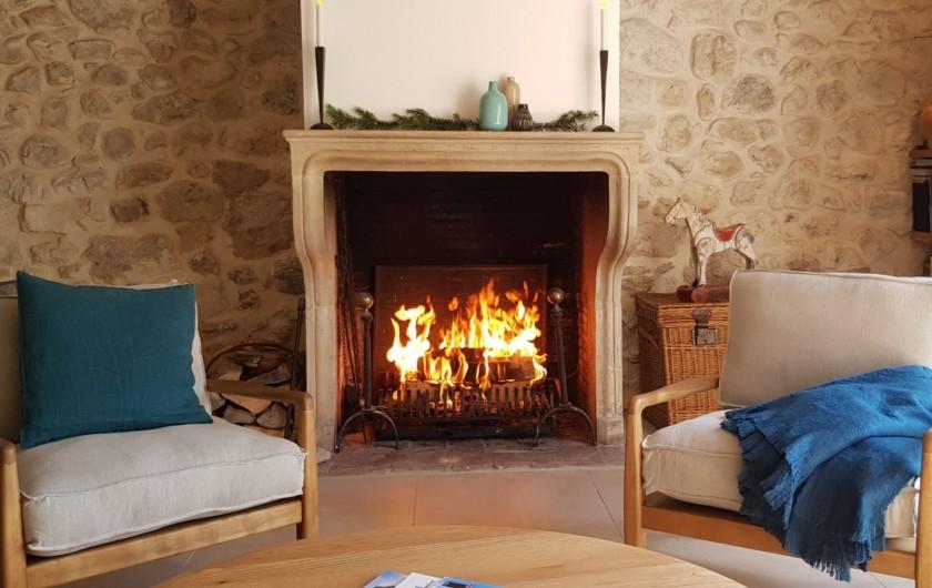 Location de vacances - Maison - Villa à Villard-de-Lans - Feu de cheminée