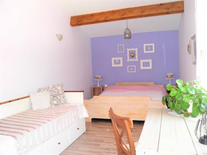 Location de vacances - Villa à Saint-Michel-d'Euzet - Chambre 1 avec lit en 180