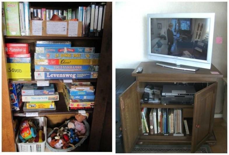 Location de vacances - Appartement à Ostende - Armoire à jouets et jeux de société + Télé à écran plat +Films DVD + BD + Livres