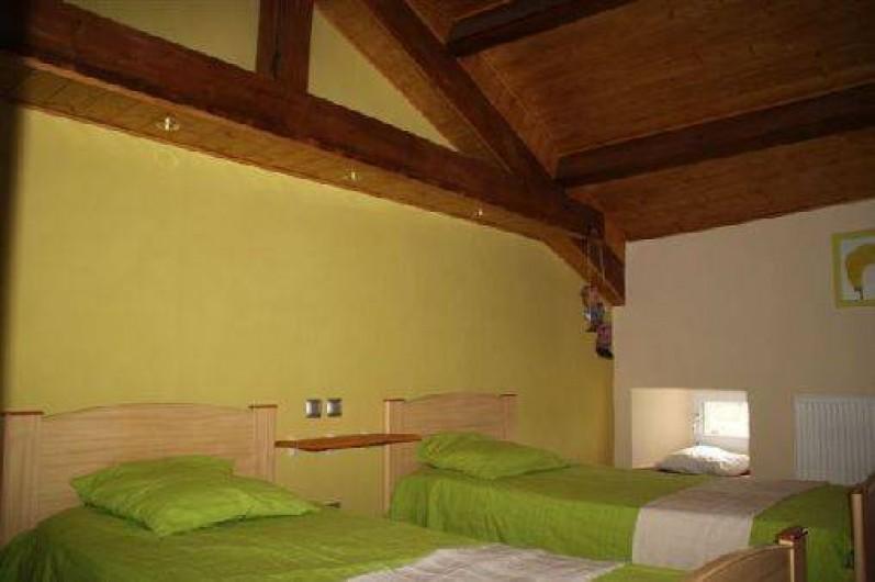 Location de vacances - Gîte à Rochepaule - chambre avec 2 lits de 90