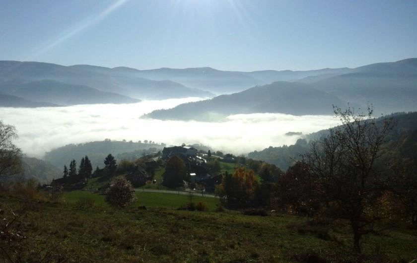 Location de vacances - Appartement à Orbey - vue depuis le  Wettstein