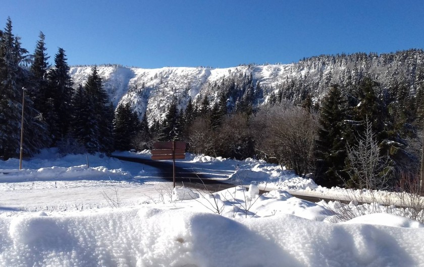 Location de vacances - Appartement à Orbey - vue du sommet du lac blanc