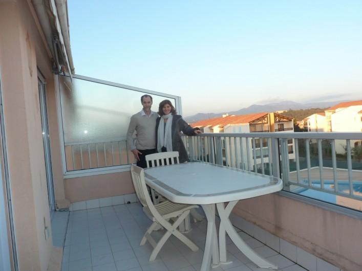 Location de vacances - Appartement à Fréjus - Terrasse vue Esterel