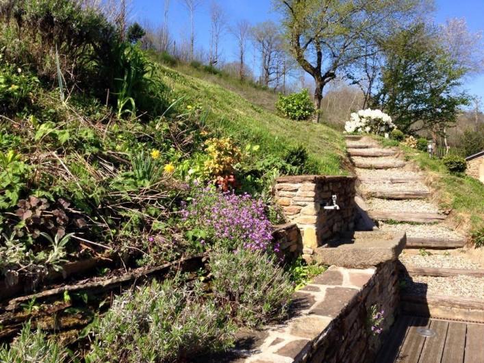 Location de vacances - Gîte à Coupiac - accès terrasse